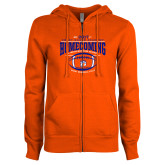 ENZA Ladies Orange Fleece Full Zip Hoodie-2017 Homecoming