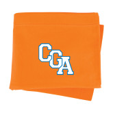 Orange Sweatshirt Blanket-Secondary Logo