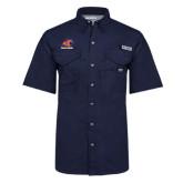 Columbia Bonehead Navy Short Sleeve Shirt-Primary Logo