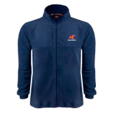 Fleece Full Zip Navy Jacket-Primary Logo