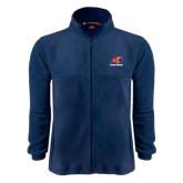 Fleece Full Zip Navy Jacket-Primary Logo