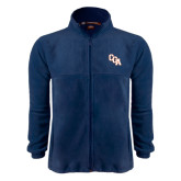 Fleece Full Zip Navy Jacket-Secondary Mark