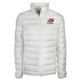 Columbia Mighty LITE Ladies White Jacket-Primary Logo