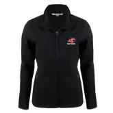 Ladies Black Softshell Jacket-Primary Logo
