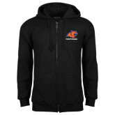 Black Fleece Full Zip Hoodie-Primary Logo