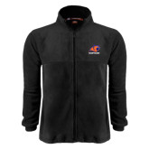 Fleece Full Zip Black Jacket-Primary Logo