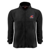 Fleece Full Zip Black Jacket-Primary Logo