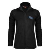 Ladies Fleece Full Zip Black Jacket-Secondary Mark