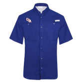 Columbia Tamiami Performance Royal Short Sleeve Shirt-Secondary Mark