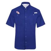 Columbia Tamiami Performance Royal Short Sleeve Shirt-Secondary Mark