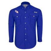 Columbia Bahama II Royal Long Sleeve Shirt-Secondary Mark