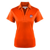Ladies Orange Performance Fine Jacquard Polo-Tertiary Mark