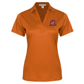 Ladies Orange Performance Fine Jacquard Polo-Bear Club