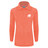 Columbia Ladies Half Zip Coral Fleece Jacket-Primary Logo