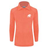 Columbia Ladies Half Zip Coral Fleece Jacket-Primary Logo