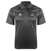 Adidas Climalite Charcoal Jaquard Select Polo-Primary Logo