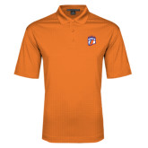 Orange Performance Fine Jacquard Polo-Tertiary Mark