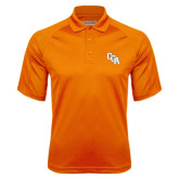 Orange Textured Saddle Shoulder Polo-Secondary Mark