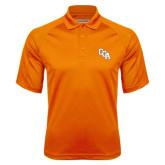 Orange Textured Saddle Shoulder Polo-Secondary Mark