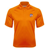 Orange Textured Saddle Shoulder Polo-Tertiary Mark