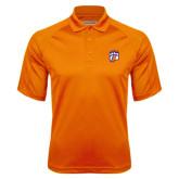 Orange Textured Saddle Shoulder Polo-Tertiary Mark