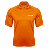 Orange Textured Saddle Shoulder Polo-Coast Guard