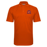 Orange Textured Saddle Shoulder Polo-Bear Club