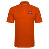 Orange Textured Saddle Shoulder Polo-Bear Club