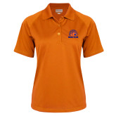 Ladies Orange Textured Saddle Shoulder Polo-Bear Club
