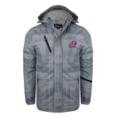 Grey Brushstroke Print Insulated Jacket-Primary Logo
