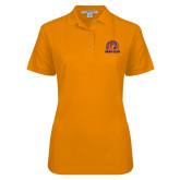 Ladies Easycare Orange Pique Polo-Bear Club