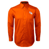 Orange Twill Button Down Long Sleeve-Secondary Mark