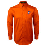 Orange Twill Button Down Long Sleeve-Tertiary Mark