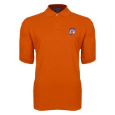 Orange Easycare Pique Polo-Tertiary Mark