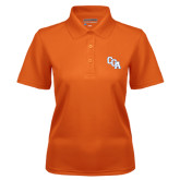 Ladies Orange Dry Mesh Polo-Secondary Mark