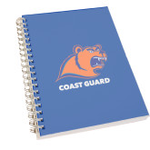 Clear 7 x 10 Spiral Journal Notebook-Primary Logo