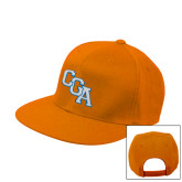 Orange Flat Bill Snapback Hat-Secondary Mark