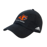 Adidas Black Slouch Unstructured Low Profile Hat-Primary Logo
