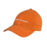 Orange Twill Unstructured Low Profile Hat-Coast Guard