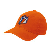 Orange Flexfit Mid Profile Hat-Tertiary Mark
