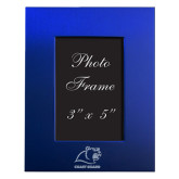 Royal Brushed Aluminum 3 x 5 Photo Frame-Primary Logo Engraved