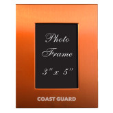 Orange Brushed Aluminum 3 x 5 Photo Frame-Coast Guard Engraved