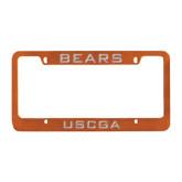 Metal Orange License Plate Frame-Bears