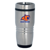 Rolling Ridges Silver Stainless Tumbler 16oz-Primary Logo