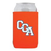 Collapsible Orange Can Holder-Secondary Logo
