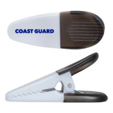 White Crocodile Clip/Magnet-Coast Guard