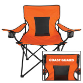 Deluxe Orange Captains Chair-Secondary Logo