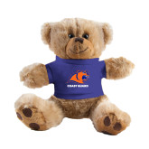 Plush Big Paw 8 1/2 inch Brown Bear w/Royal Shirt-Primary Logo