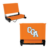 Stadium Chair Orange-Secondary Logo
