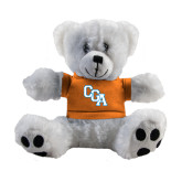 Plush Big Paw 8 1/2 inch White Bear w/Orange Shirt-Secondary Logo